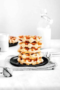 Belgian Liège waffles   The best ever Belgian waffles recipe Best Ever Belgian Waffle Recipe, Belgian Liege Waffle Recipe, Best Belgian Waffle Maker, Liege Waffles Recipe, Belgian Waffles, Sweetly Cake, Bakers Yeast, Waffle Ingredients, Easy Homemade Recipes