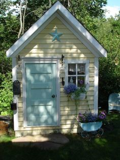 """Different colors will make this a cute """"cabin"""" playhouse!"""