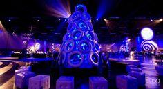 Custom built tire Christmas tree! Car dealership holiday party