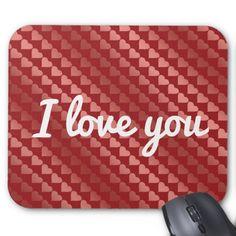 I love you -custom mouse pad #love #beauty