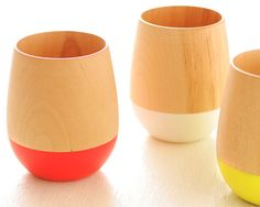 Beautiful wooden tumblers that manage to look both traditional and modern. $57.11  from Rakuten