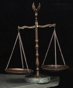 12 Inch Eagle Scales of Justice Sculpture on Marble Base T.P.