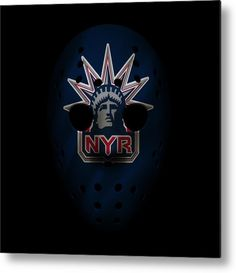 Rangers Metal Print featuring the photograph Rangers Jersey Mask by Joe Hamilton