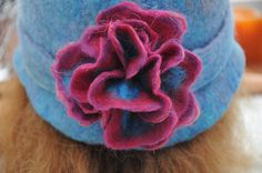How to make a delicate 4D Wet Felted Flower/A Free Tutorial