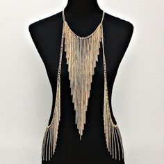 Chic Triangle Tassel Gold Women's Body Chain