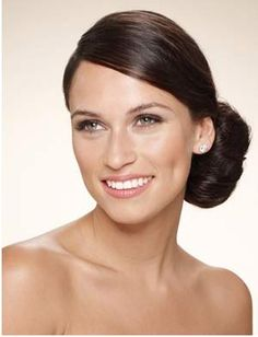 Low Hung Side Chignon Hairstyle