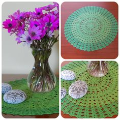 In & around my house Crochet Doilies, My House, Glass Vase, Home Decor, Decoration Home, Room Decor, Interior Decorating
