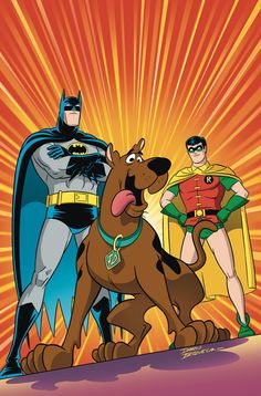 SCOOBY-DOO TEAM-UP #1 Written by SHOLLY FISCH Art and cover by DARIO BRIZUELA On sale NOVEMBER 6 • 32 pg, FC, $2.99 US • RATED E Rumors of a giant bat-creature bring Scooby and the gang on the run—but Batman and Robin are already on the trail of their old foe, the monstrous Man-Bat. Before long, the crooks behind a fake bat-creature will come face-to-face with the real thing…with the good guys caught in the middle! Don't miss the start of this new, bimonthly miniseries!