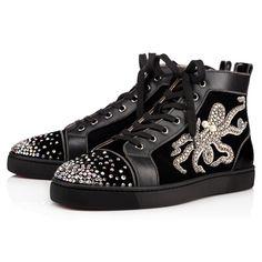 c6361139c427 CHRISTIAN LOUBOUTIN Louis Octopus Men S Flat Black Strass.   christianlouboutin  shoes   Louboutin Shoes