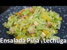 Ensalada de Piña y Lechuga Fácil de Preparar - Recetas de ensaladas de l...