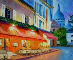 jean marc janiaczyk art painting | . Paris Painting by Jean-Marc JANIACZYK - Montmartre. Paris Fine Art ...