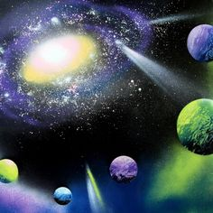 Anyone can make this galaxy art in 30 minutes w/ super fun & unusual techniques  plus a little help from things found in the recycle bin!