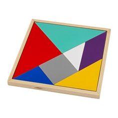 IKEA - LATTJO, Tangrampuzzel, Een uitdagende puzzel voor alle leeftijden die creativiteit en logisch denken stimuleert.Helpt je kind kleuren en vormen te herkennen en het ontwikkelen van de fijne motoriek.