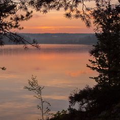 Sundown at Lake Päijänne