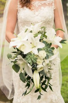 How to Make A Cascade Wedding Bouquet . 24 Beautiful How to Make A Cascade Wedding Bouquet Concept . Wedding Bouquets for Brides who Love Flowers Lilly Bouquet Wedding, White Lily Bouquet, Cascading Wedding Bouquets, Lily Wedding, Wedding Flower Arrangements, Bride Bouquets, Floral Wedding, Wedding Colors, Wedding Flowers