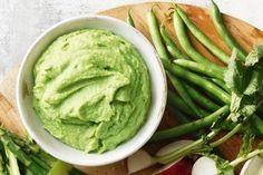 Broad bean, avocado and mint dip