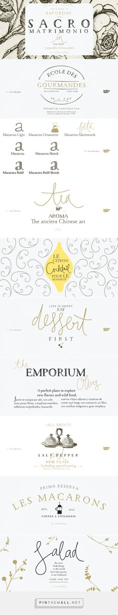 Macarons - Free Fonts... - a grouped images picture - Pin Them All