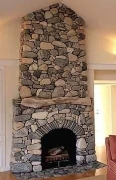 The River Rock Fireplace Surround . . . Soaring Skyward!