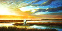 Morning Tide painted by Warren Percell Studios &  owner of Zignz in Petaluma, CA 707.765.6512