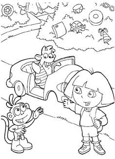 Activity Dora And Friends Coloring Pages