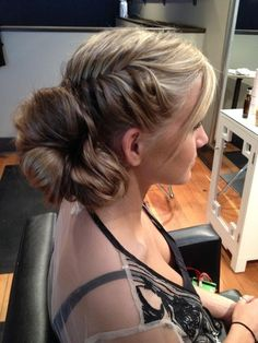 gorgeous braid and bun