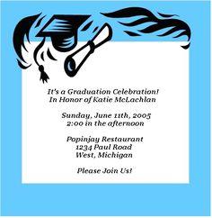 graduation party invitation templates free printable computer
