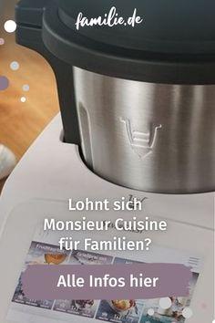"""Lidl verkauft aktuell wieder die Küchenmaschine """"Monsieur Cuisine Connect SKMC 1200 D4"""". Das Gerät ist eine deutlich günstigere Alternative zum Thermomix (Vorwerk). Wir haben für euch geprüft, ob sich das Angebot für Familien lohnt. #kochen #monsieurcuisine #lidl #thermomix #alternative #günstig #backen #roboter #cuisine #vorwerk #familie #familienleben #baby #nachwuchs #lebenmitkindern #familienzeit #kauf"""