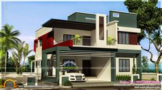 Bilderesultat for MODERN duplex house House Balcony Design, Modern Bungalow House Design, Single Floor House Design, Best Modern House Design, Duplex Design, Modern Minimalist House, House Front Design, Design Homes, Modern Houses