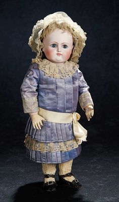 Rare French Bisque Bebe by Petit & Dumoutier with Original Unique Body. http://Theriaults.com