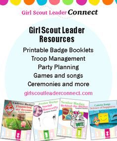 Girl Scout Leader Connect is a place for Girl Scout leaders to get Girl Scout ideas with step by step activities for badges, ceremonies, World Thinking Day, Girl Scout Bronze, Silver and Gold awards, parties, service project and more. Along with blog post with ideas, you will also find easy to use booklets and printable in the GS Leader Connect shop.