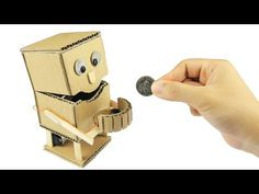 How to Make an Robot Piggy Bank with measurements - Just5mins - YouTube