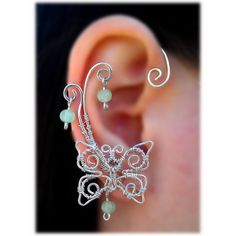 Ear Butterfly Cuff- found on Polyvore