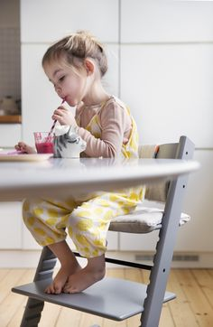 Stokke Tripp Trapp Chair pulls right up to the family table #wow #kids #style