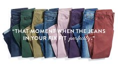 I'd take some colored jeans/pants. Love the far right and third from right.