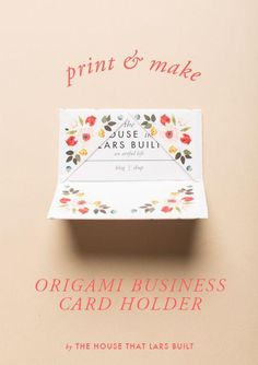 DIY Origami Business Card Holder
