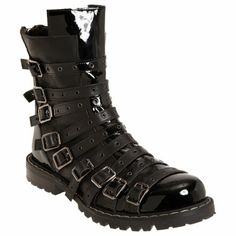 Gareth Pugh Belted Low Boot at Barneys.com