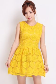 Sun Flower Embroidered Lace Dress OASAP.com  $55 What do you think mon?