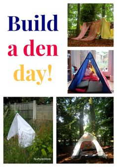 Join in with build a den day! Eyfs Outdoor Area, Outdoor Play, Communication Friendly Spaces, Den Building, Early Years Classroom, Holiday Club, Preschool Themes, Save The Children, Diy Garden Projects