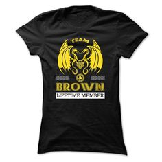 Team BROWN Lifetime Member T-Shirts, Hoodies. Check Price Now ==► https://www.sunfrog.com/Names/[Special]-Team-BROWN-Lifetime-Member-vymcrubcgp-Ladies.html?41382