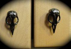 Bellatrix Bird Skull Cabinet/drawer Hardware (jet Black Gun-metal) Made In Nyc…