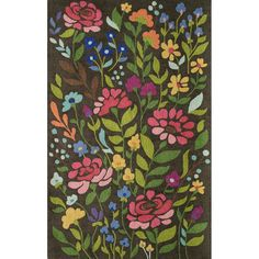 The Lennox area rug is a brown, hand tufted casual rug. Made of Wool By Wovenly Rugs. Floral Area Rugs, Floral Rug, Wool Area Rugs, Wool Rug, India Pattern, Grey And Gold, Blue Grey, Brown Rug, Shades Of Yellow