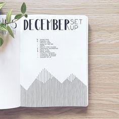 Bullet journal planning spread, linear design. @abulletandsomelines