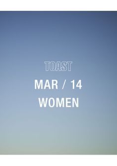 TOAST . women . men . house&home . march 2014 . Photograph by Nicholas James Seaton . www.toast.co.uk