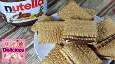 Easy Nutella FoodHack - Petit Beurre Nutella Food Hack - How to make Nut. Makati, Food Hacks, Nutella, Cake Recipes, Bread, Easy, Dump Cake Recipes, Brot, Breads