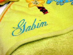 Broderie avec le prénom GABIN (1)