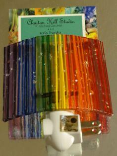 Fused Glass Night Light - Rainbow