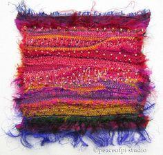 peaceofpi studio: Sari Silk Fiber Art Quilt