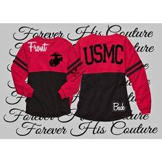 Usmc Girlfriend Pom Pom Jersey Tee Marine Girlfriend Usmc Wife Marine... ($37) ❤ liked on Polyvore featuring tops, t-shirts, grey, women's clothing, jersey tee, oversized t shirt, oversized tops, jersey knit tops and gray tee