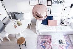 Нежная маленькая квартира в Швеции (51 кв. м)   Пастельные тона в интерьере женской квартиры