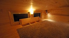 Utilize the space between floor joists in the loft for storage of clothing or other items.